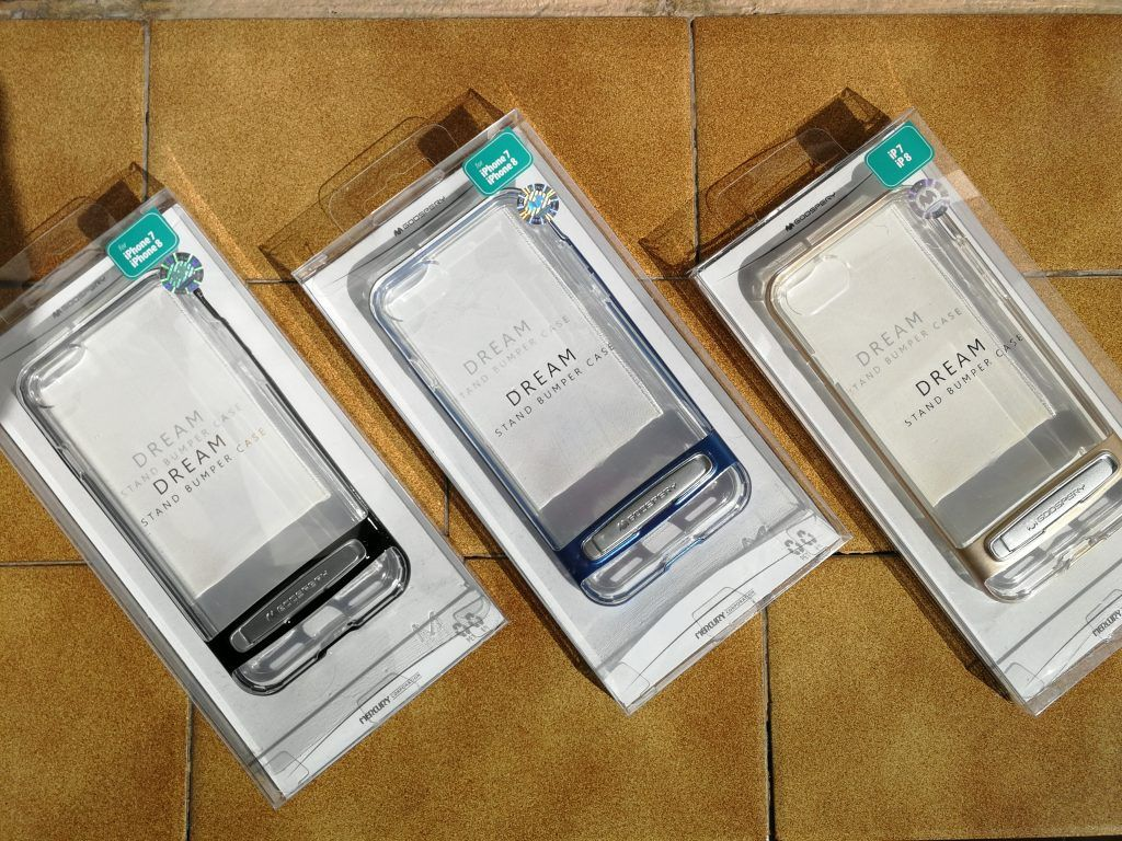 Carcasas transparentes para iPhone 7 y 8 marca Goospery