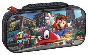 Estuche de viaje de Super Mario Odyssey para proteger la consola Nintendo Switch