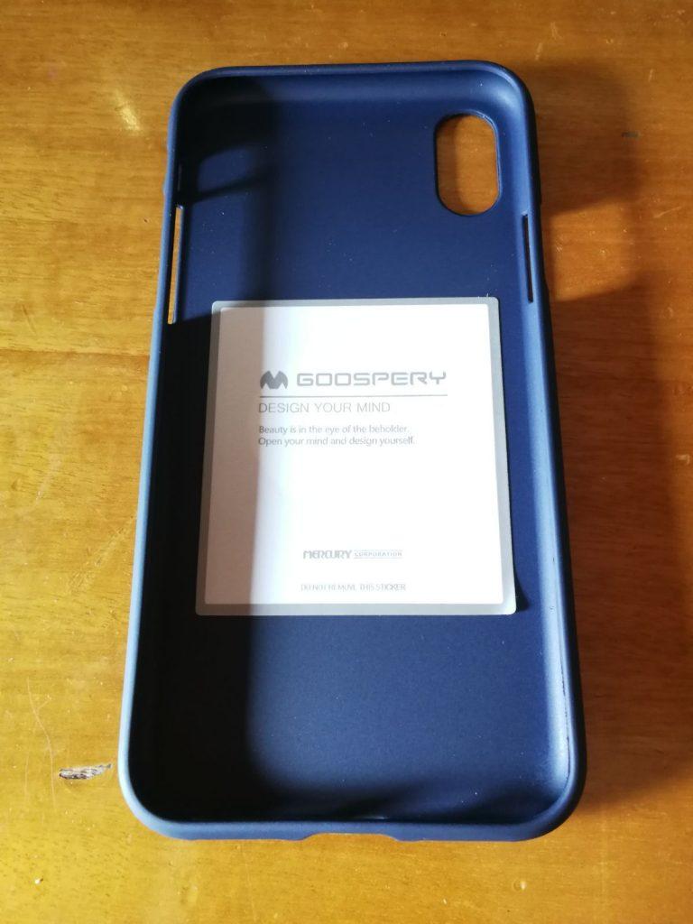 Funda protectora para iPhone X de material de silicona