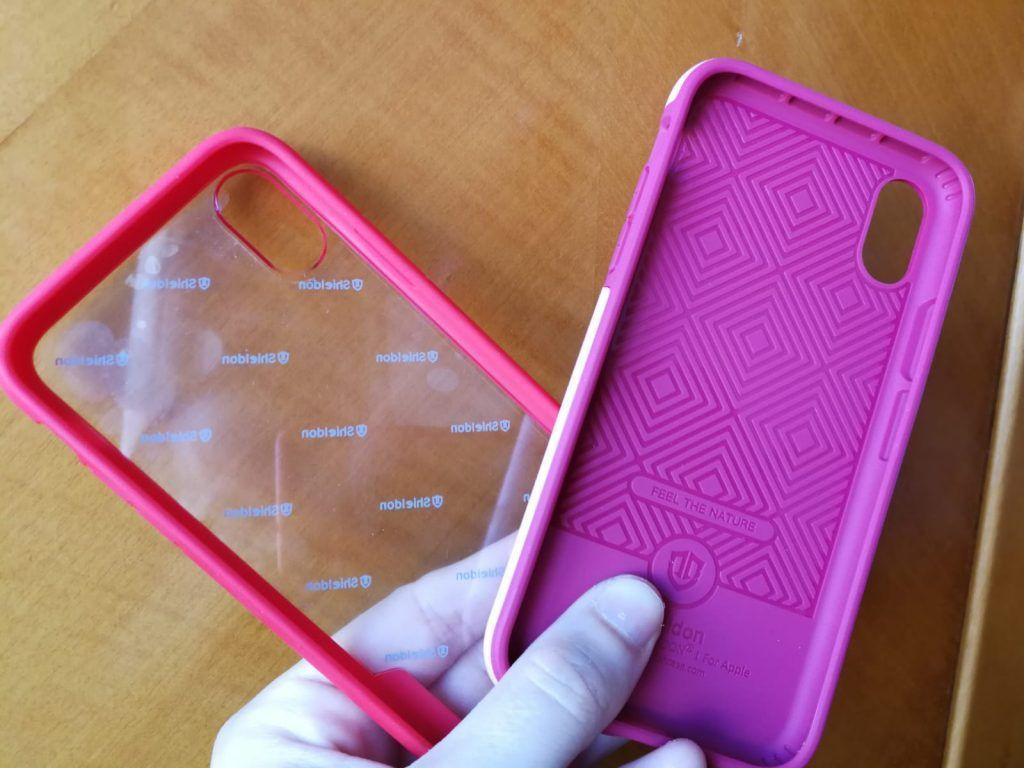 Comparativa funda transparente y TPU iPhone X parte trasera