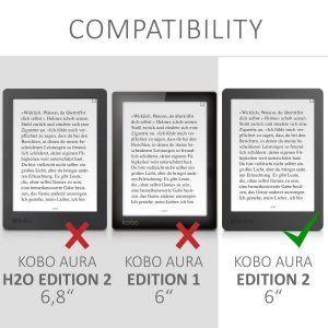 Mejor funda compatible con el Kobo Aura Edition 2 6 pulgadas